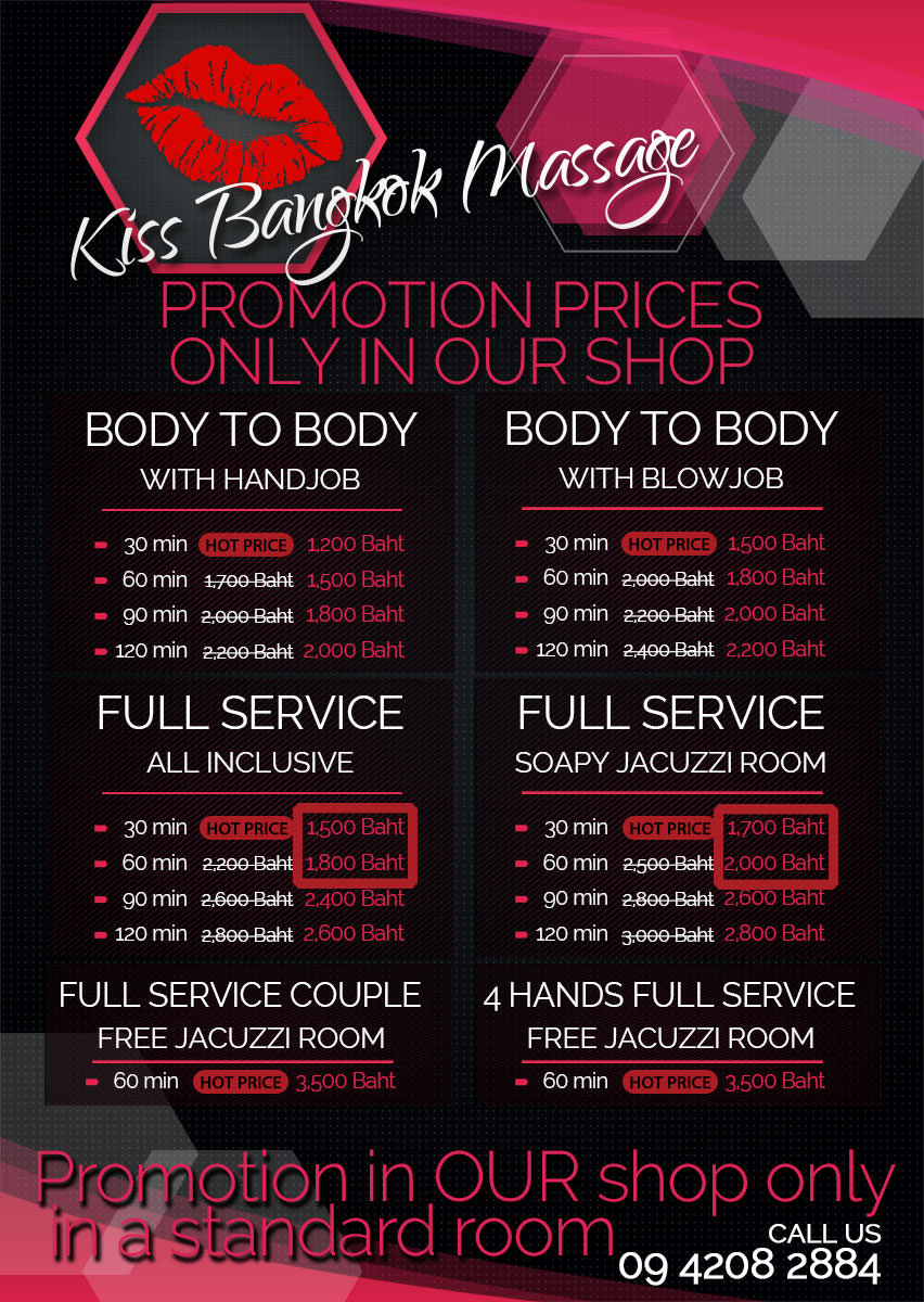 Kiss Bangkok Massage Promotions